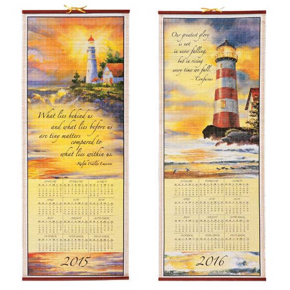 Lighthouse Scroll Calendar