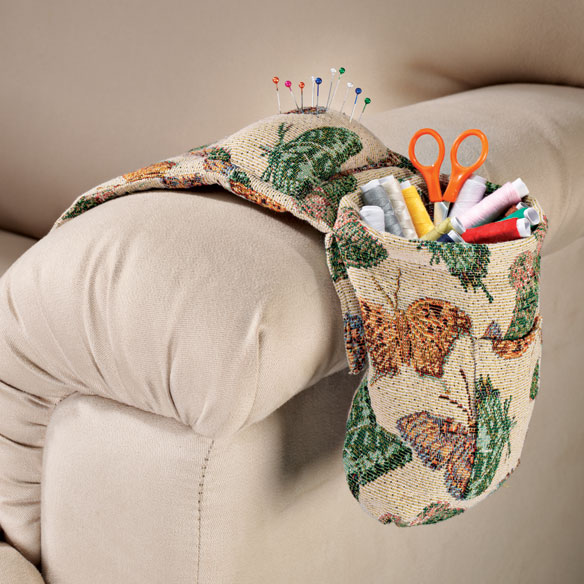 Butterfly Tapestry Sewing Caddy Set