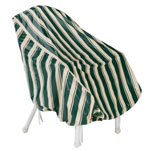 "Deluxe Chair Cover, 34"" L x 32"" H x 28"" W, Green/White"