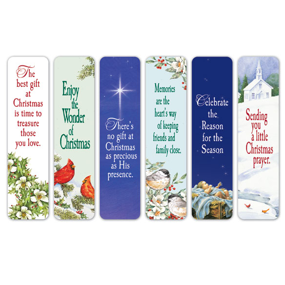 Christmas Bookmarks Set of 12 - View 1