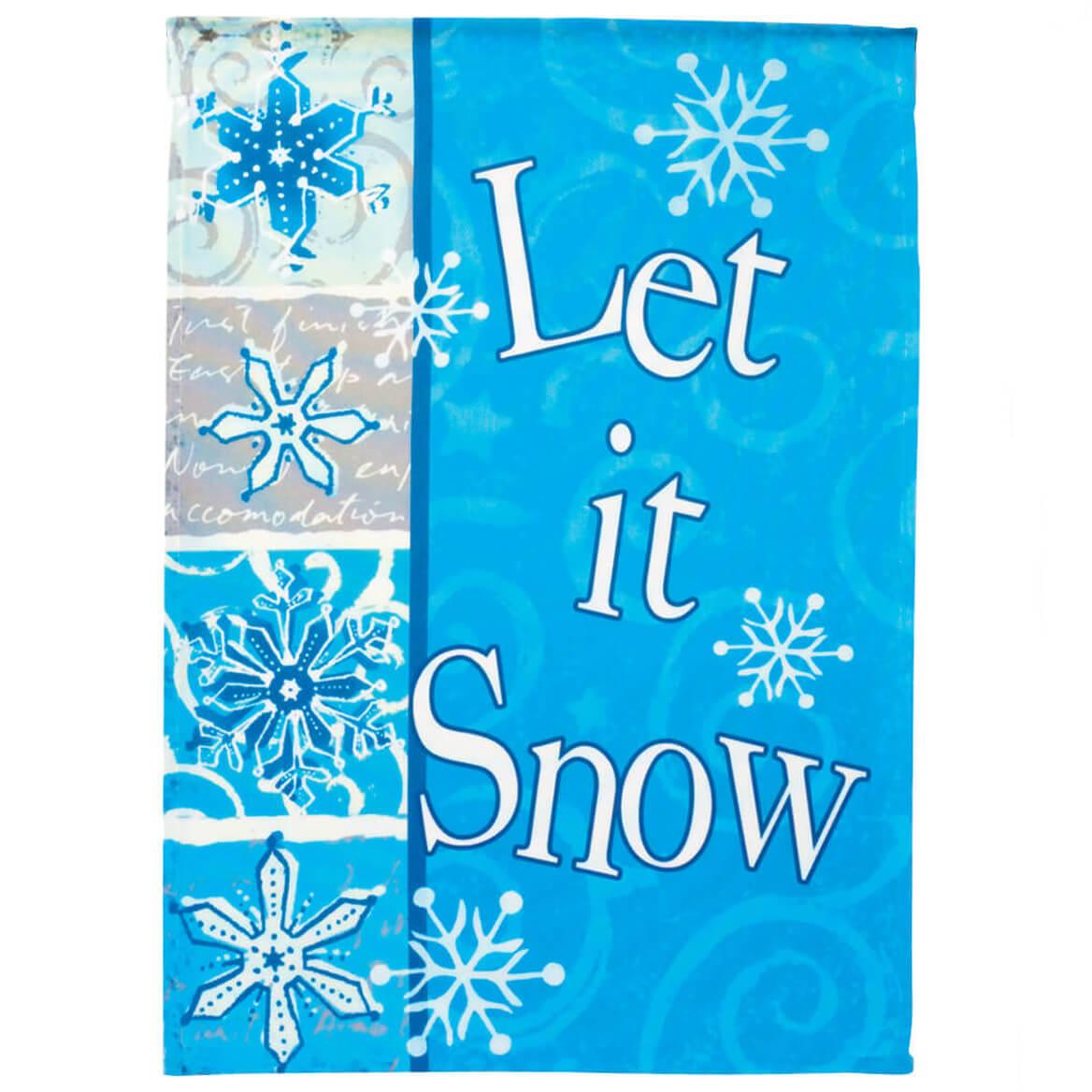 Let It Snow Garden Flag-342901