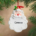 Personalized Jolly Santa Ornament