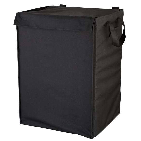 Waterproof Shopping Cart Liner Black Black non-woven polyester shopping cart liner with cover and handles protects groceries, laundry or other contents from weather. Waterproof shopping cart liner is designed to fit our deluxe steel grocery cart. 20 1/2  H x 16  W x 13 1/2  D.