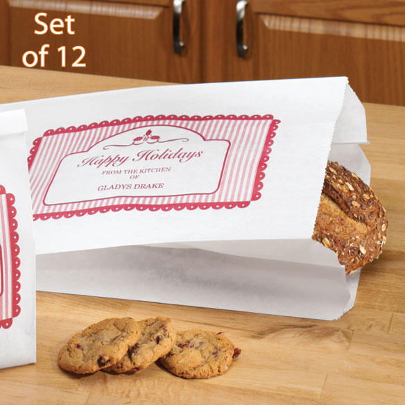 Personalized Holiday Bread Bags, Set of 12