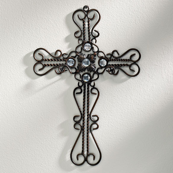 Decorative Iron Cross with Gems