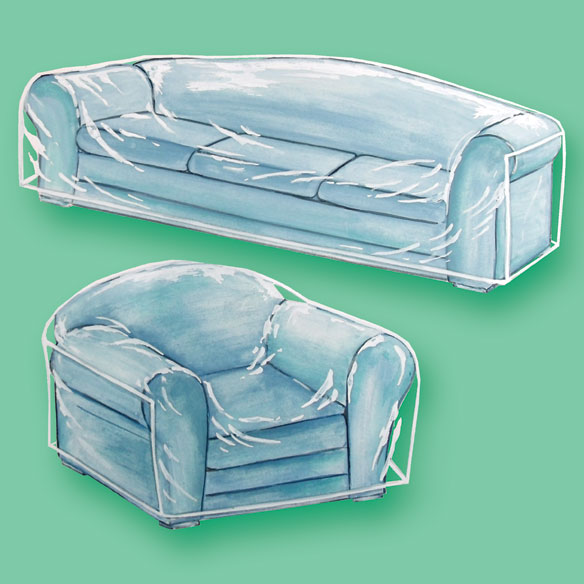 clear furniture covers plastic furniture covers walter drake
