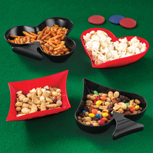 Poker Snack Dishes, Set of 4