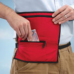 Handbags & Wallets - Red Waist Wallet