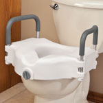 Daily Living Aids & Cushions - Locking Raised Toilet Seat With Arms