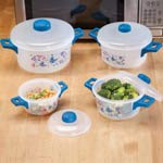 Compare At Deals - 8 Pc. Butterfly Microwave Pot Set