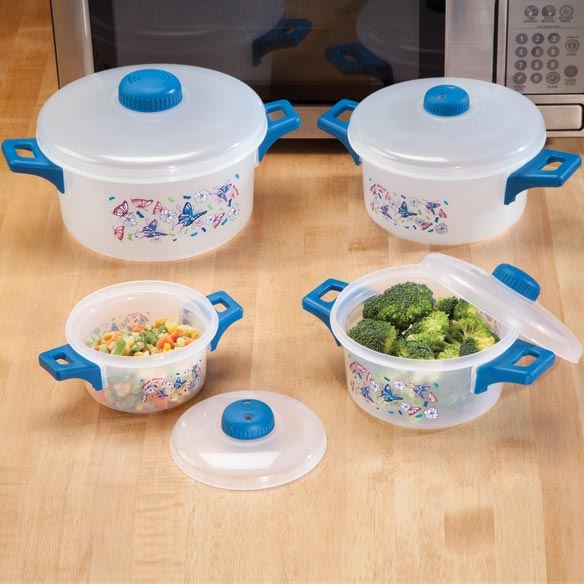 8 Pc. Butterfly Microwave Pot Set