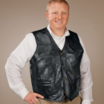 Health, Beauty & Apparel - Patch Leather Vest