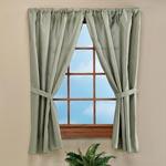 Bath Accessories - Solid Fabric Bathroom Window Curtain