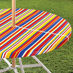Outdoor Décor - Striped Umbrella Table Cover