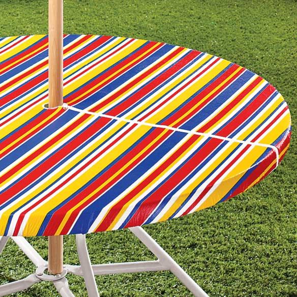 Striped Umbrella Table Cover Outdoor Table Cloth Walter Drake
