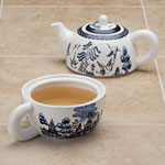Tea for One Teapot - Vintage Blue