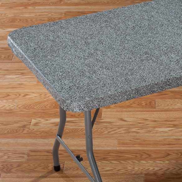 Granite Vinyl Elasticized Banquet Table Cover