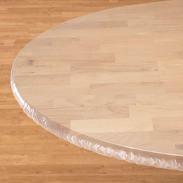 Clear Elasticized Table Cover