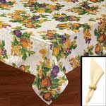 Table Covers - Orchard Tablecloth Set with Napkins & Rings