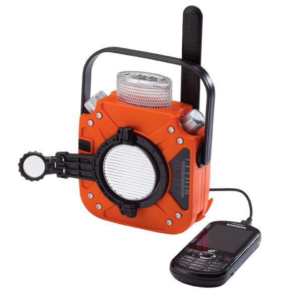 Self Powered Emergency Radio and Flashlight