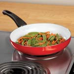 Bakeware & Cookware - Red Ceramic Frying Pan