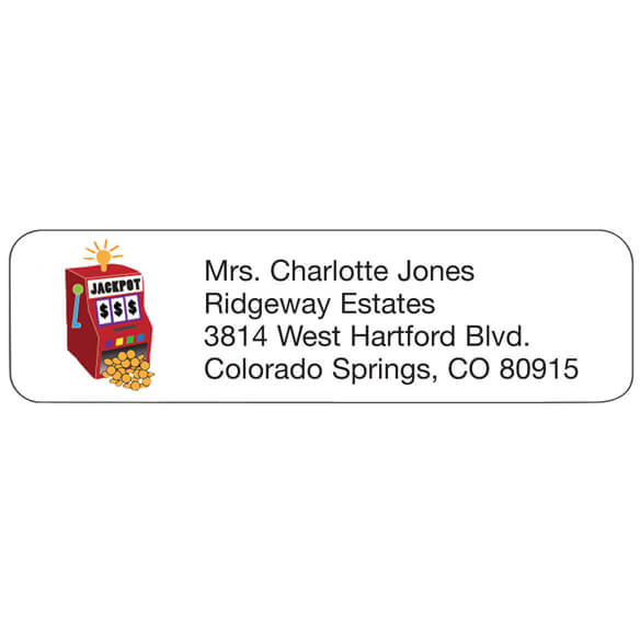 Jackpot Personalized Address Labels