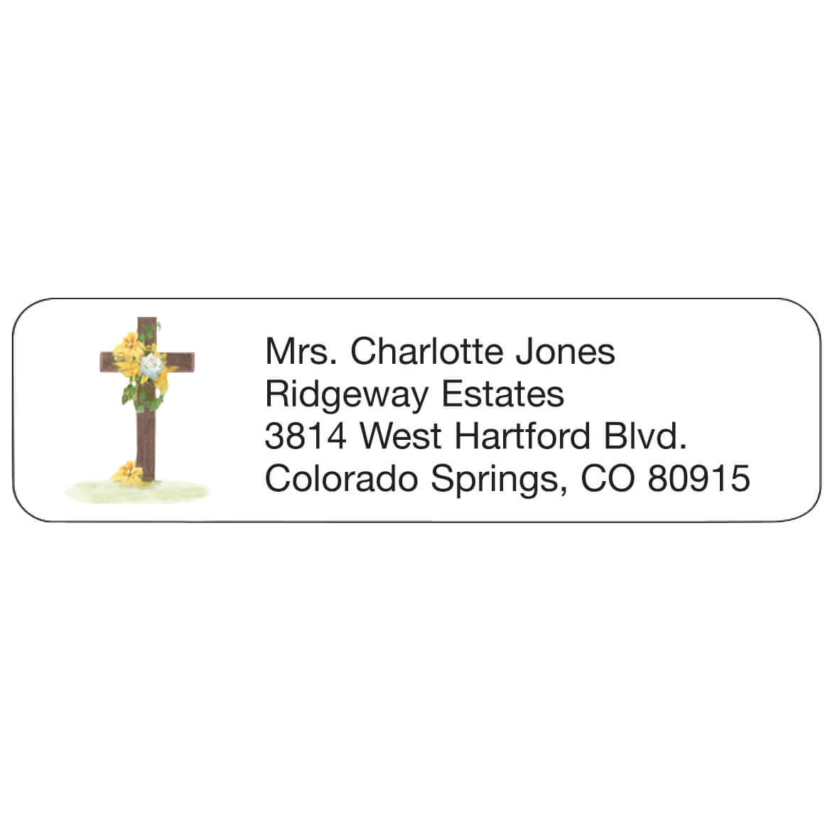 Cross Personalized Address Labels-344846