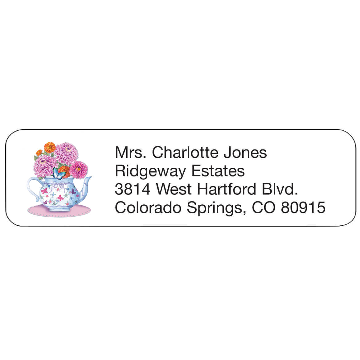 Teapot Personalized Address Labels-344847