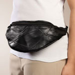 Patch Leather Waist Bag