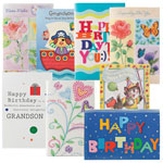 Kids' Birthday Cards Value Pack of 24