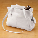 Handbags & Wallets - White Leather Handbag