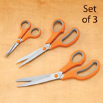 View All Clearance - Cushion Grip Stainless Steel Scissors Set of 3