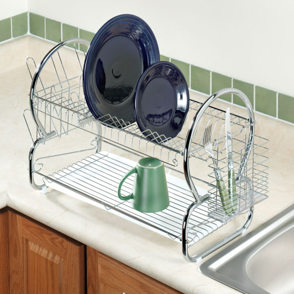Two-Tier Stainless Steel Dish Rack