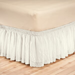 Bedroom Basics - White Eyelet Bed Ruffle