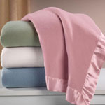 New - Satin Fleece Blanket by OakRidge Comforts™