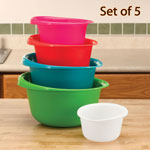 Colorful Mixing Bowls, Set of 5
