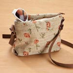 View All Clearance - Flower Print Tapestry Handbag