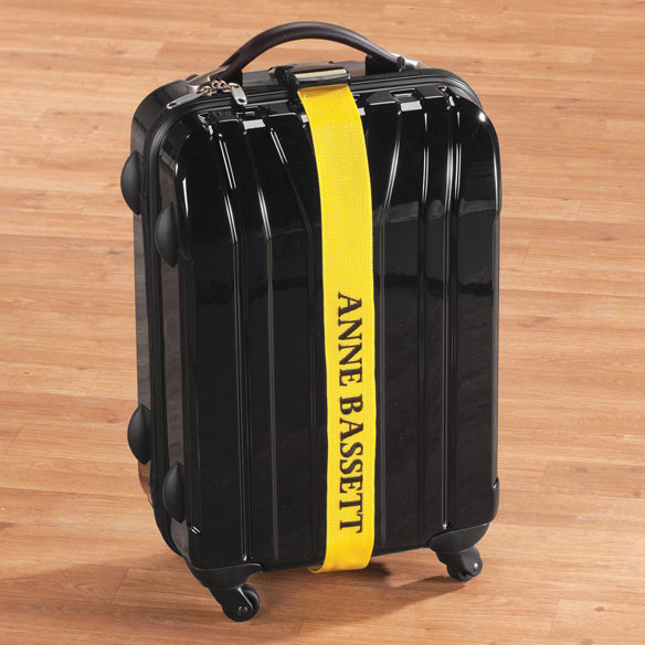 Personalized Yellow Luggage Strap