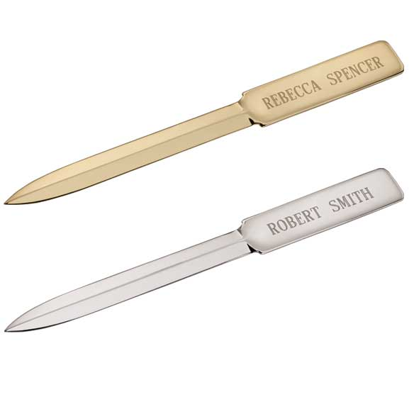 Personalized plated letter opener home office for Rose gold letter opener