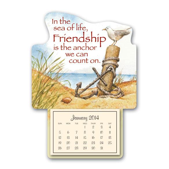 Coastal Friend Mini Magnetic Calendar
