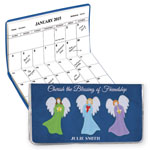 Calendars - Personalized 2 Year Planner Angel Friendship