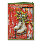 Secular - Vintage Skates Christmas Card Set of 20