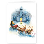 Religious - Santa's Prayer Christian Christmas Card Set of 20
