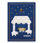Christmas Cards - Satin Nativity Christian Christmas Card Set of 20