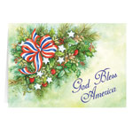 Secular - Patriotic Blessings Christmas Card Set of 20
