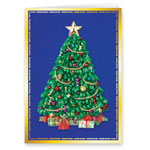 Secular - Satin Tree Christmas Card Set of 20