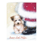 Secular - Santa's Little Helper Christmas Card Set of 20
