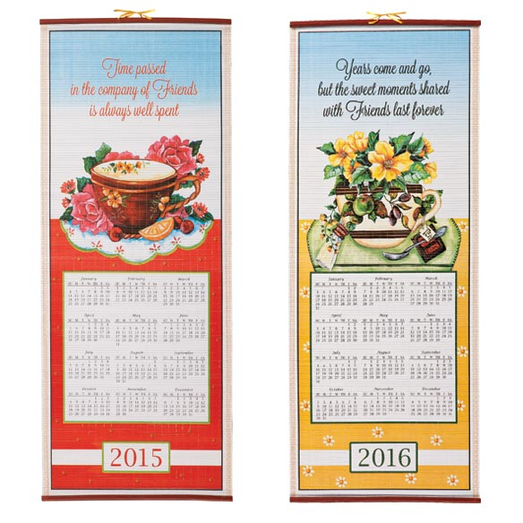 Friendship Tea Wall Scroll Calendar
