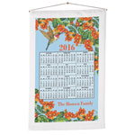 Calendars - Floral Hummingbird Personalized Calendar Towel