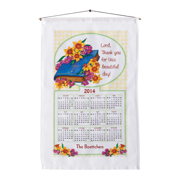 God's Blessing Personalized Calendar Towel